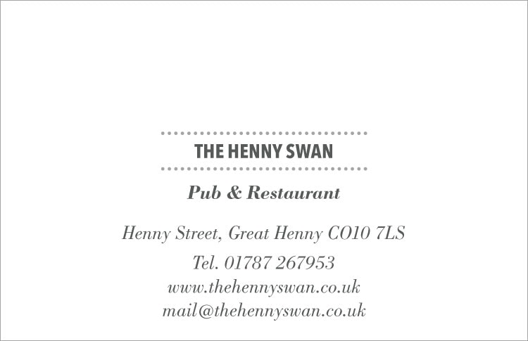 The Henny Swan Business Cards