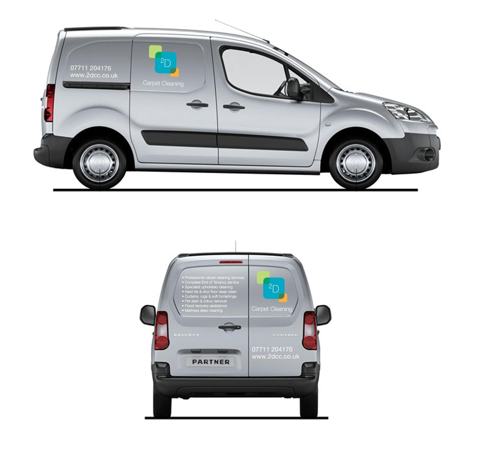 2DCC Brand Identity on Van