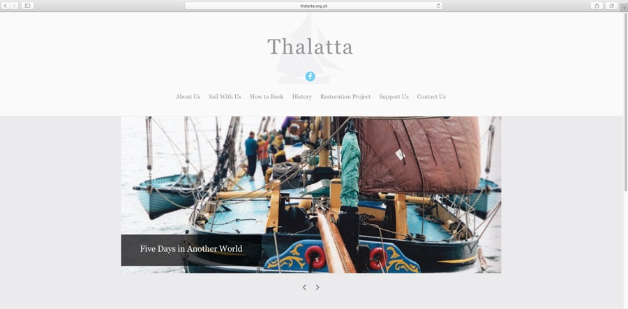 Thalatta WordPress Website Homepage