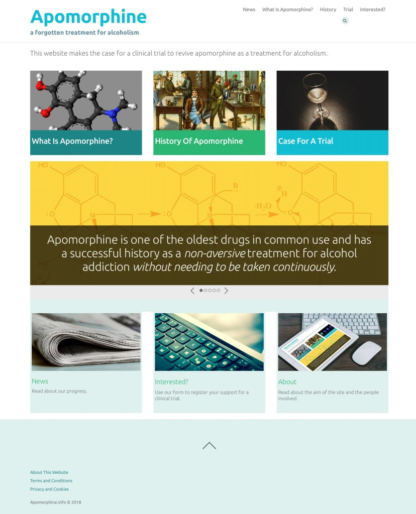 Apomorphine.info homepage