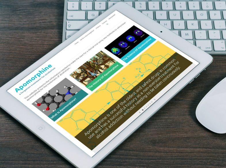 Apomorphine.info, a WordPress website