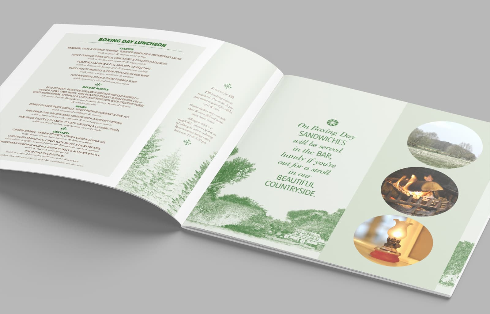 Henny Swan Christmas Brochure Spread